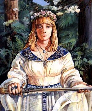 Dama con espada